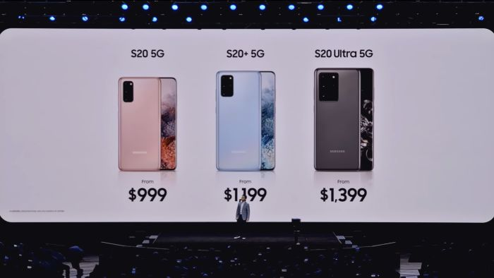 Galaxy S20 Pricing