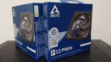 ARCTIC P12 PWM - 120 mm Case Fan with PWM, Pressure-optimised, Very quiet motor, Computer, Fan Speed: 200-1800 RPM - Black/Black