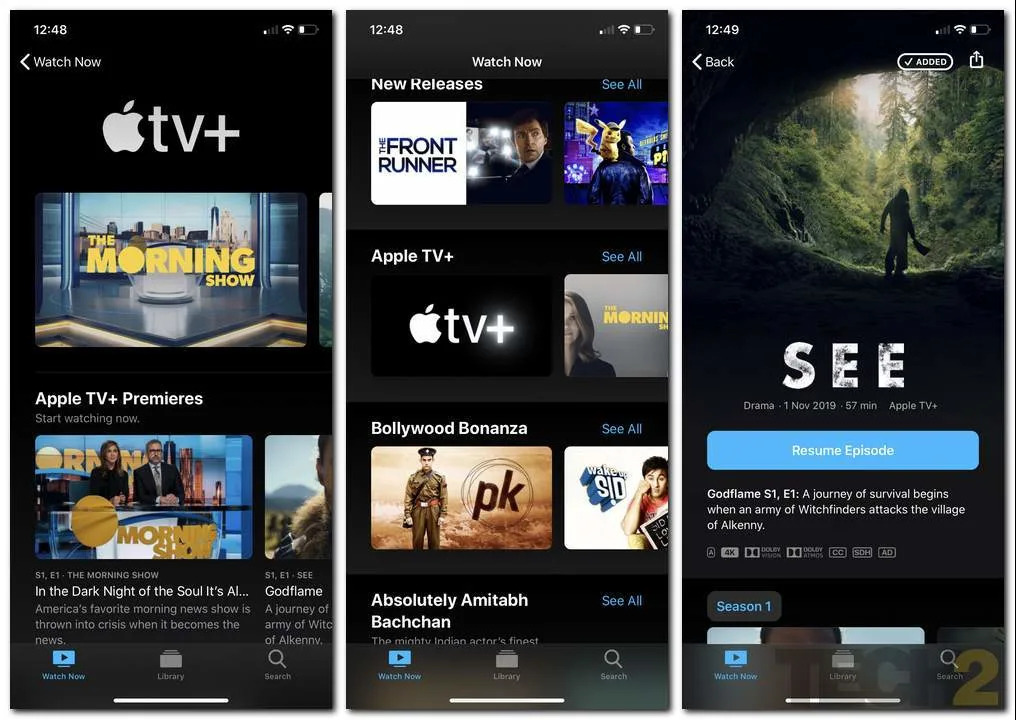 Apple TV+ Screenshot