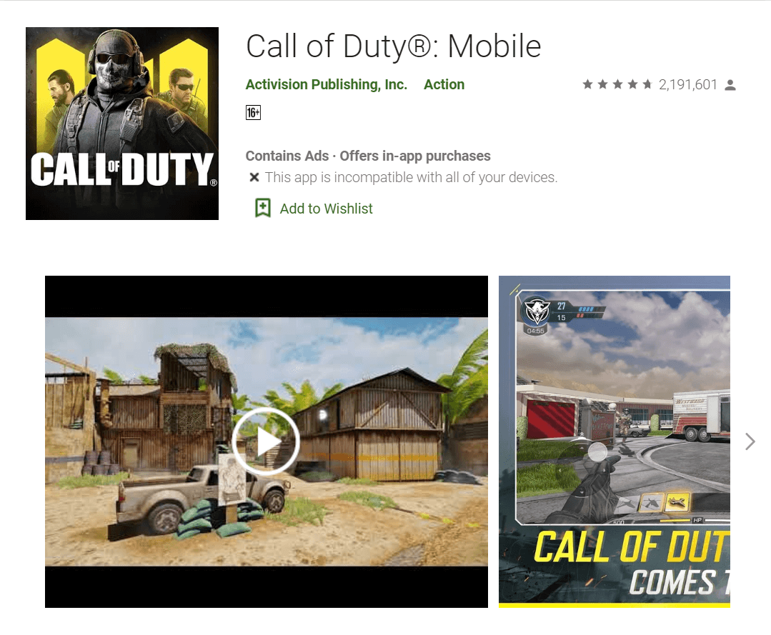 COD Mobile on Play Store